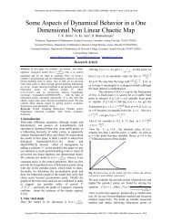 Some Aspects of Dynamical Behavior in a One ... - Statperson