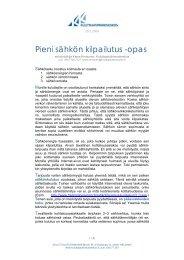 Pieni sähkön kilpailutus opas - Kuluttajatutkimuskeskus