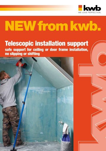 Telescopic installation support - kwb