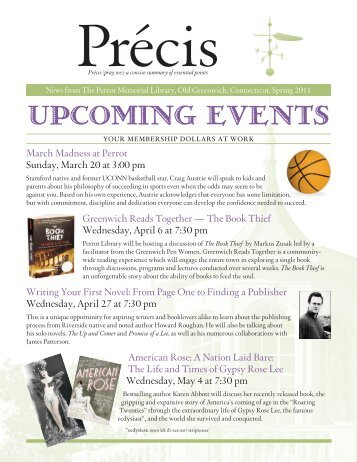 UPCOMING EVENTS - Perrot Library