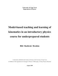Model-based teaching and learning of kinematics in an introductory ...