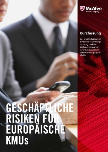 Geschaeftliche Risiken fuer KMUs - CeBIT Studio Mittelstand