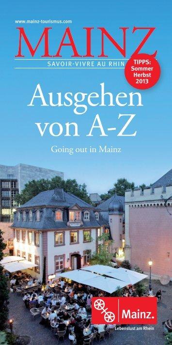 Ausgehen von A-Z - Touristik Centrale Mainz