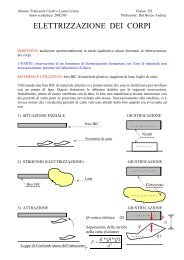 Elettrizzazione dei corpi - Popolis