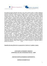 Razpisna dokumentacija - Ministrstvo za gospodarski razvoj in ...