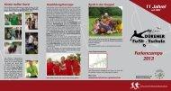 Flyer der Dürener Fußballschule - DJK Dürscheid eV
