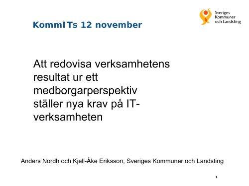 Kjell-Åke Eriksson och Anders Nordh, SKL - KommITS