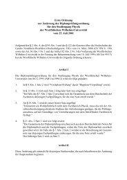 Erste Ordnung zur Änderung der Diplomprüfungsordnung für ... - ZSB