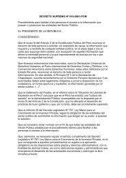 DECRETO SUPREMO Nº 018-2001-PCM Procedimiento para ...