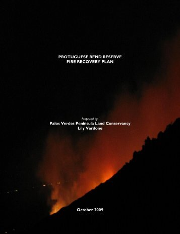 Portuguese Bend Fire Recovery Plan - Palos Verdes Peninsula ...