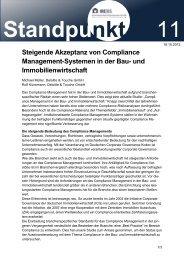 Steigende Akzeptanz von Compliance Management-Systemen in ...