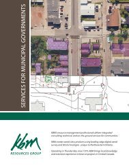 Municipal Services brochure - KBM Resources Group