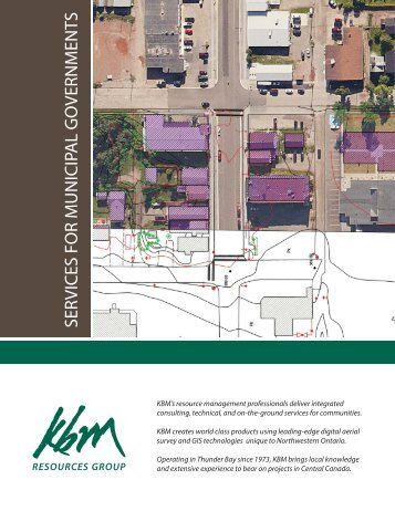 Municipal Services brochure - KBM Resources Group