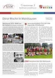 Heft 29/2013 vom 10. Oktober 2013 - Diese Woche in Mainhausen