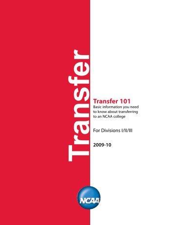 Transfer 101 - Texas Tech University Athletics