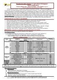 resumé essai GRAB 2012 variétés tomate de plein champ