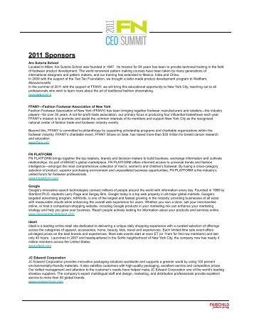 2011 Sponsors - WWD.com