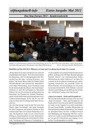 stiftungaktuell-info Extra-Ausgabe OSE2012 - Alcatel-Lucent Stiftung ...