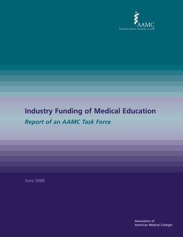 Industry Funding of Medical Education - AAMC's member profile