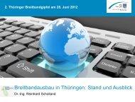 2. Thüringer Breitbandgipfel am 28. Juni 2012