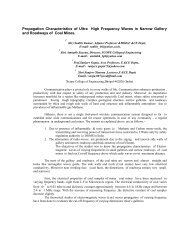 Propagation Characteristics of Ultra High Frequency Waves ... - URSI