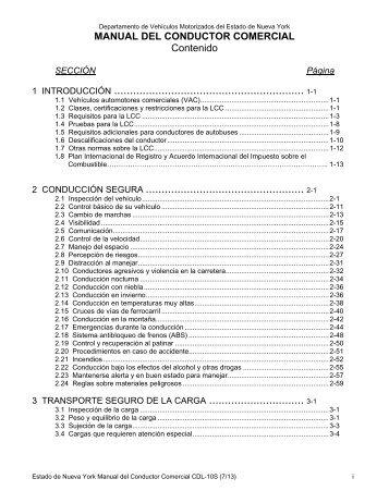 manual del conductor comercial - DMV