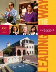 MBA Programs at USC - USC Marshall - University of Southern ...