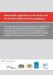 Bestuurlijke afspraken in het kader van de ... - Provincie Utrecht