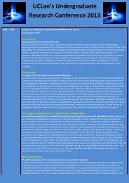 conference programme - University of Central Lancashire