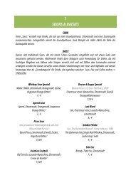 Barkarte - Brasserie Prisma