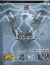 RFID Solutions in LifeSciences Industry - Cognizant