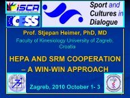 HEPA and SRM Cooperation - Stjepan Heimer - ISCA