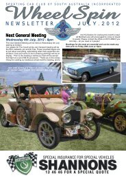 Wheelspin July 2012 - Sporting Car Club of SA