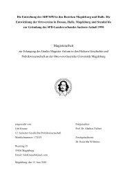 Die Entstehung der SDP/SPD in den Bezirken Magdeburg und Halle ...
