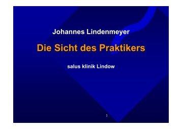 Vortrag Dr. Johannes Lindenmeyer