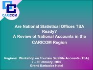 Are National Statistical Offices TSA Ready? - Caribbean Tourism ...