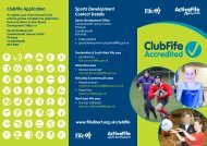 Sports Development Contact Details ClubFife Application