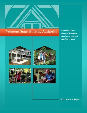 Vermont State Housing Authority 2011 Annual Report