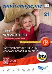 Eandismagazine 21 - september 2012 - 'Dossier Verwarmen'