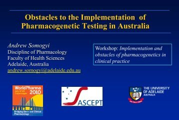 Obstacles To The Implementation Of Pharmacogenetic Testing In