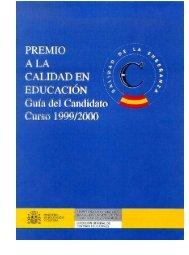Premio a la calidad en educación guía del candidato curso ... - OEI