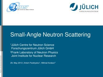 Small-Angle Neutron Scattering - Kfki