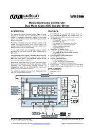 WM8990, Rev 4.0 - Wolfson Microelectronics plc