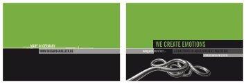 WE CREATE EMOTIONS - Wiegand Maelzer GmbH