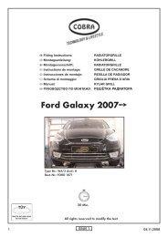 Ford Galaxy (2007- ) - Cobra-SOR