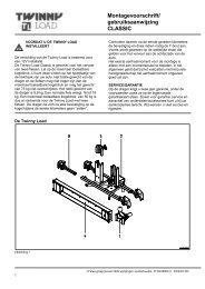 Handleiding Traditional C - Twinny Load
