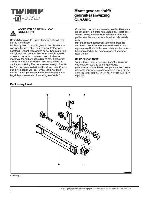 Nieuw Handleiding Traditional C - Twinny Load YB-28