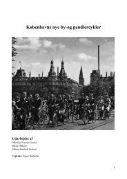 Københavns nye by-og pendlercykler - Roskilde Universitet