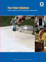 Graco Fine Finish Sprayers Brochure - Spray Tech Systems Inc.