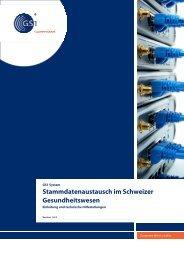Stammdatenaustausch im Schweizer Gesundheitswesen - GS1